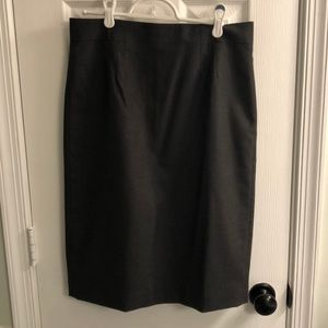Ann Taylor charcoal gray pencil skirt size 8